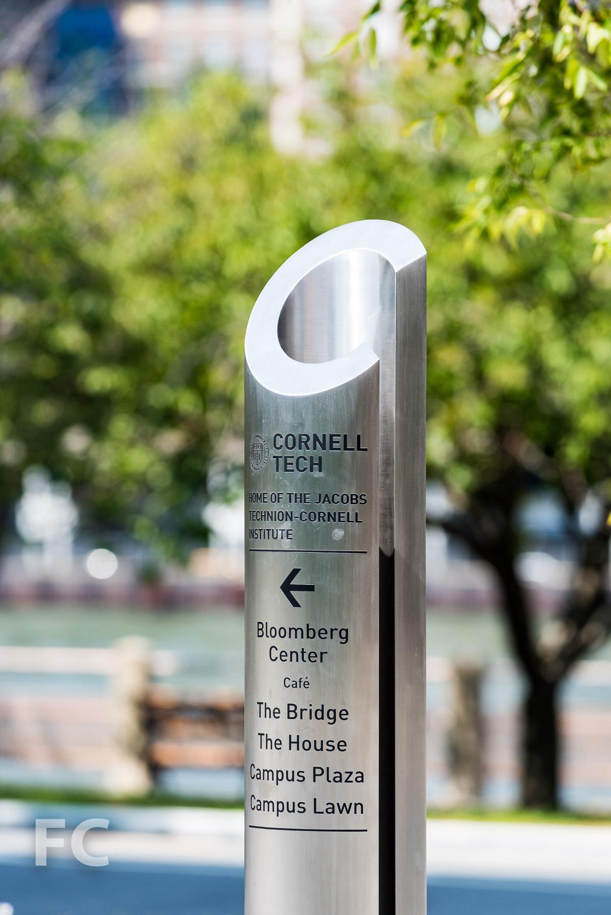 Campus signage.