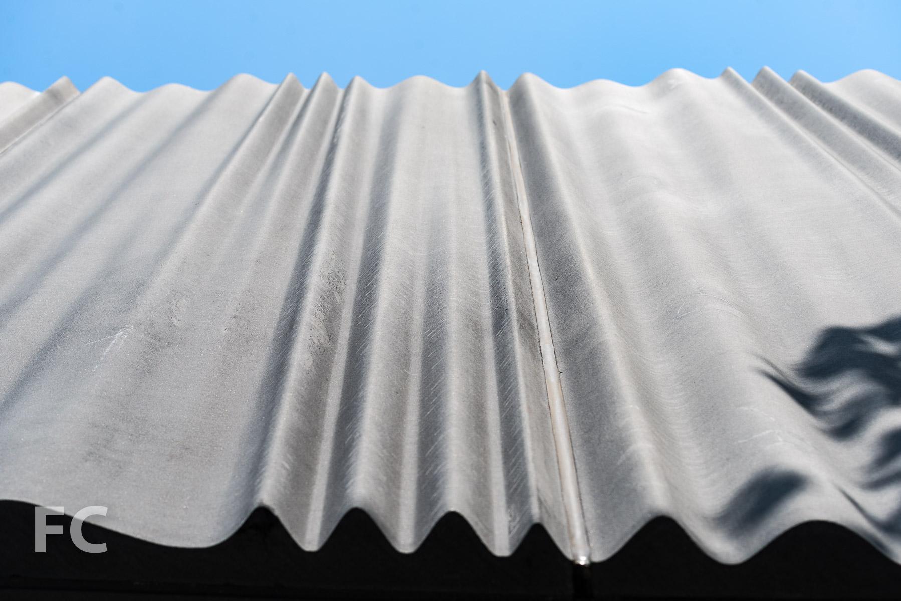 Close-up of the GFRC façade panels.