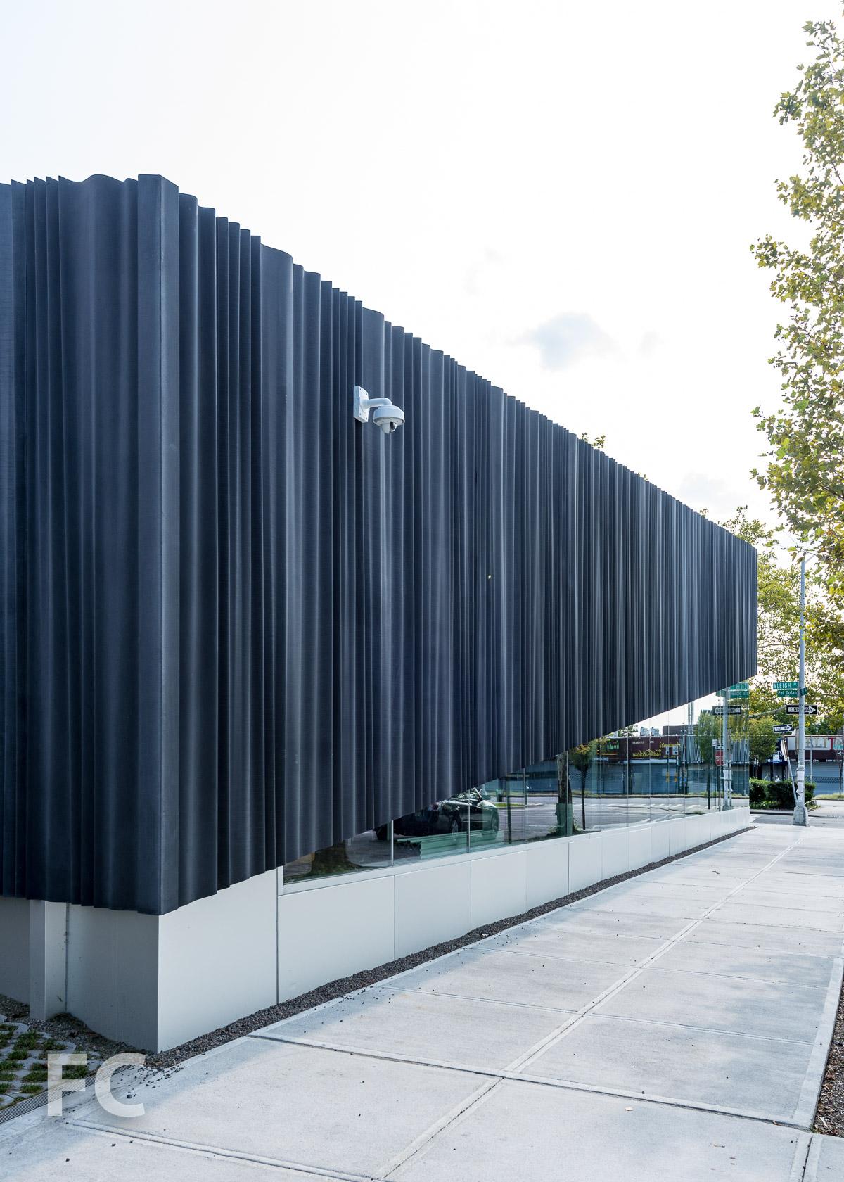 North façade.