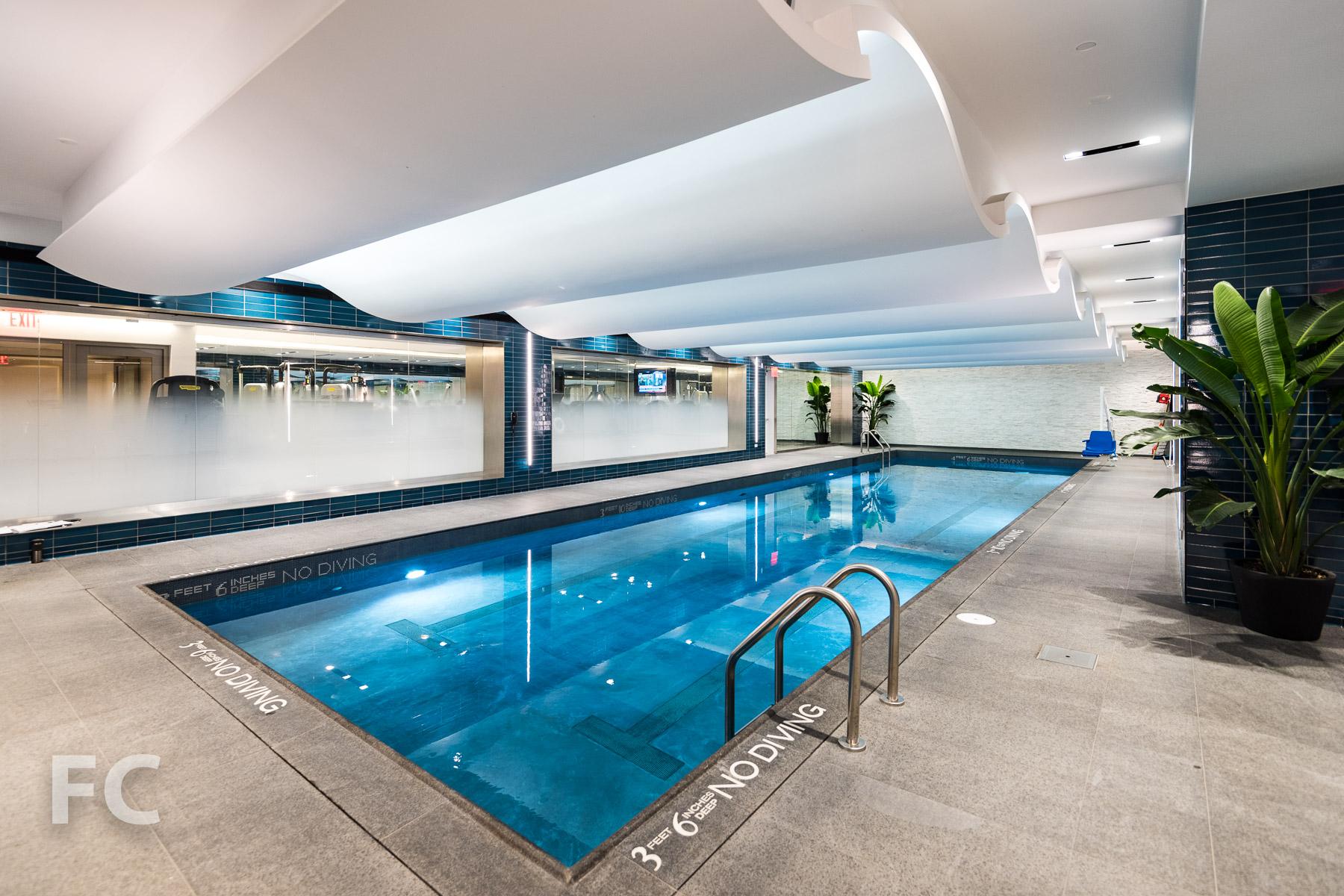Salt water swimming pool.