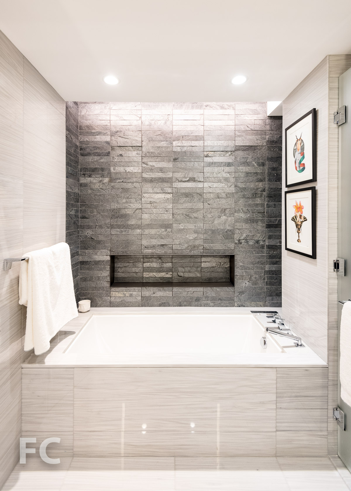 Master bathroom tub.
