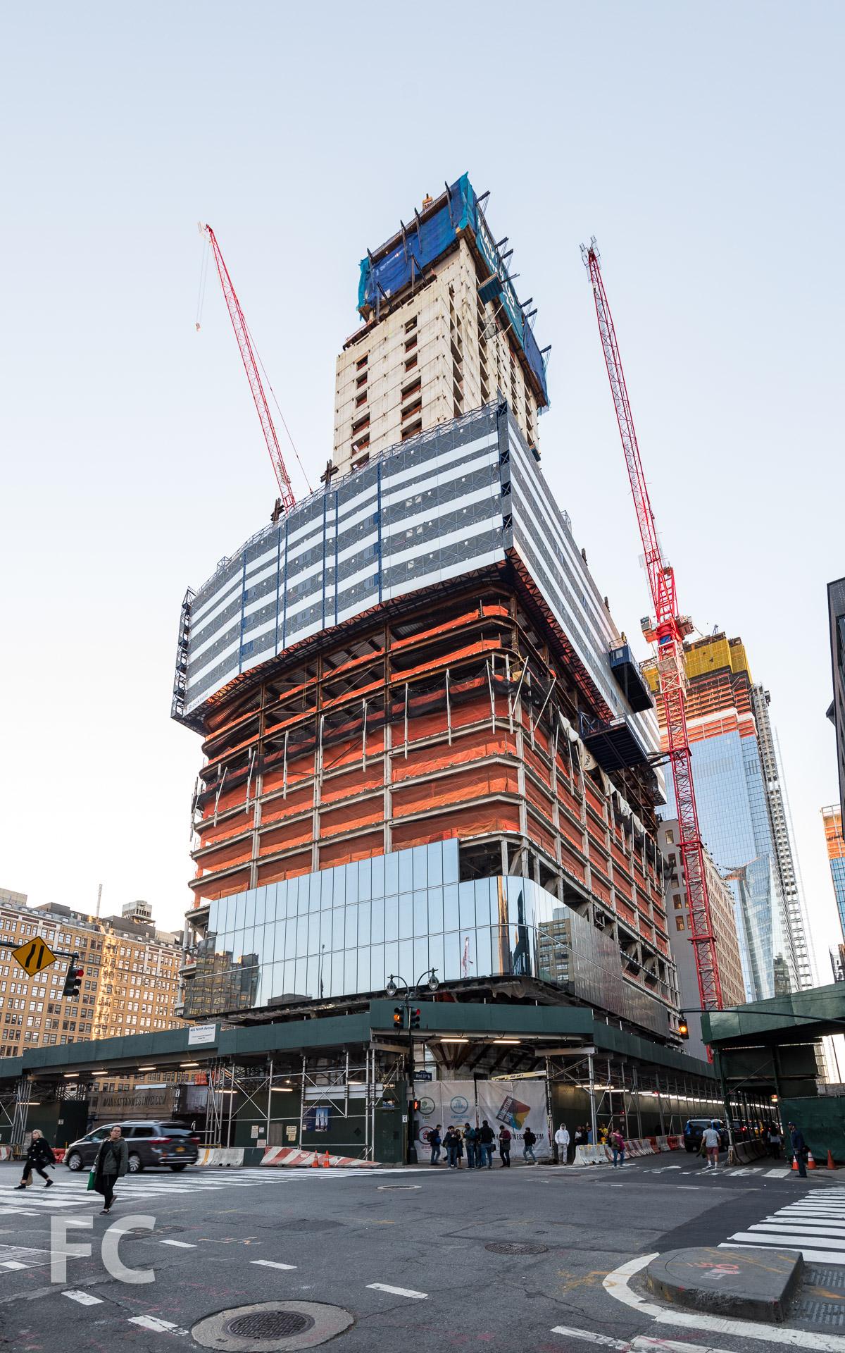 Northeast corner of 1 Manhattan West.