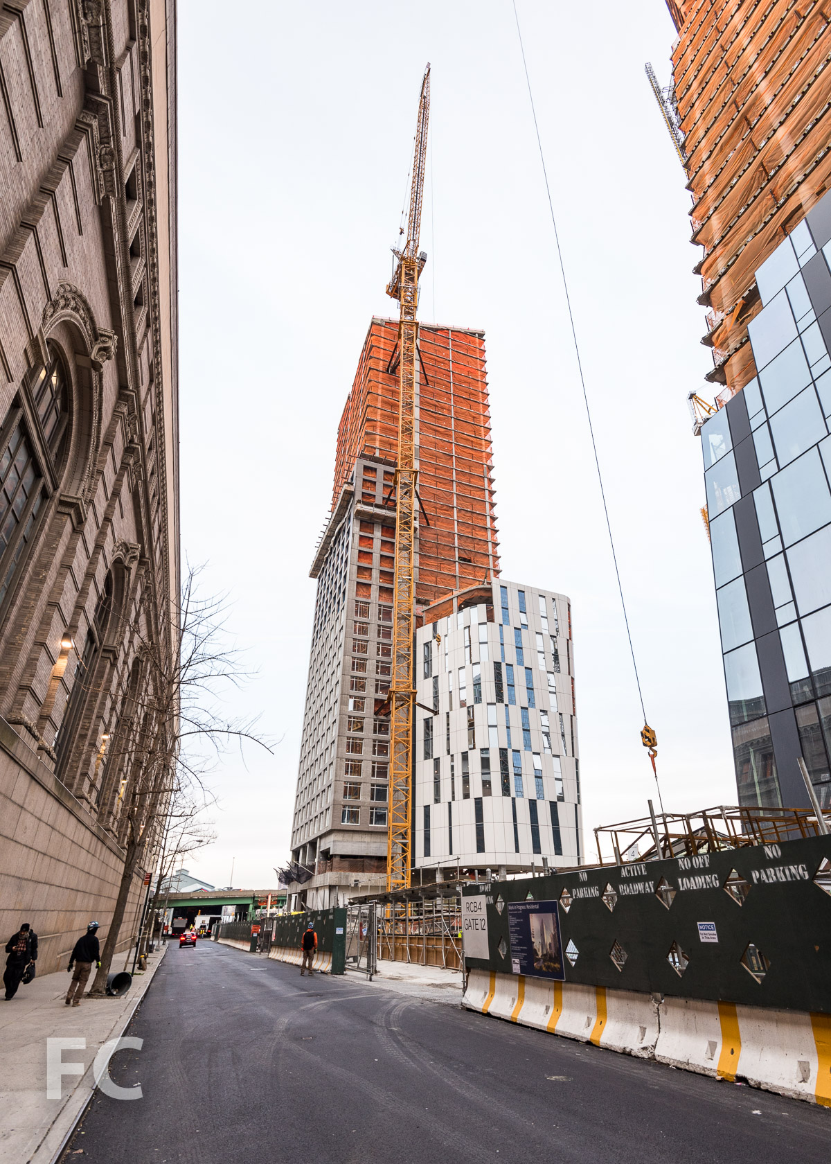 Southeast corner of One Waterline Square from West 59th Street.