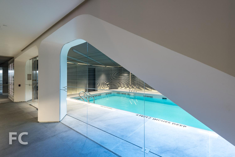 Pool entry.
