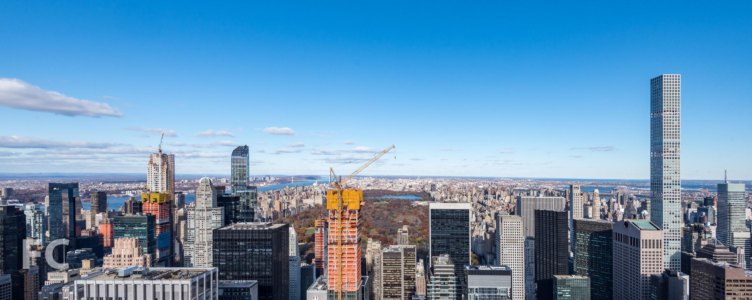 53 W 53 (center) on the Midtown skyline.