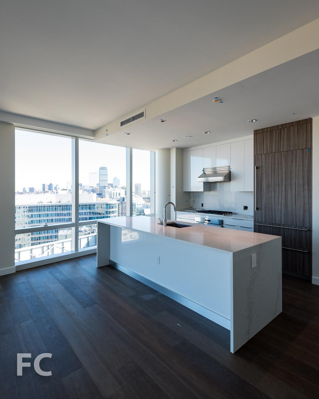 Kitchen in a condo unit.