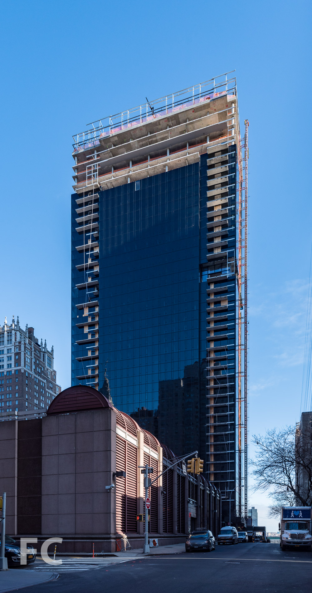 West façade from East 39th Street.