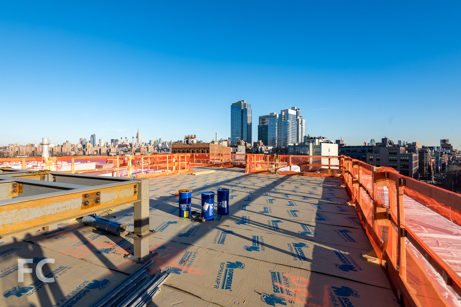 View to the north from the rooftop of 320 Wythe.