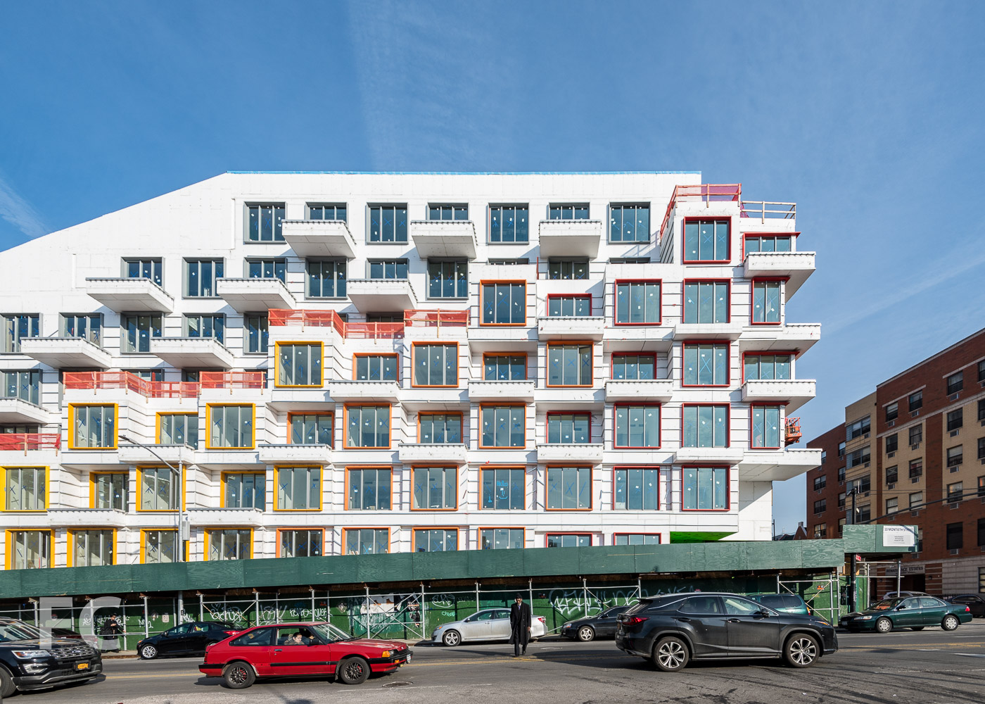 West façade from Bushwick Avenue.