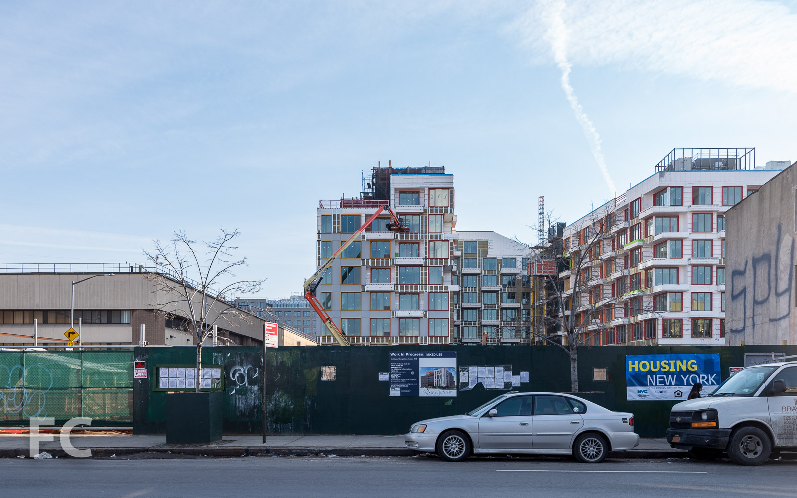 North facade from Flushing Avenue.