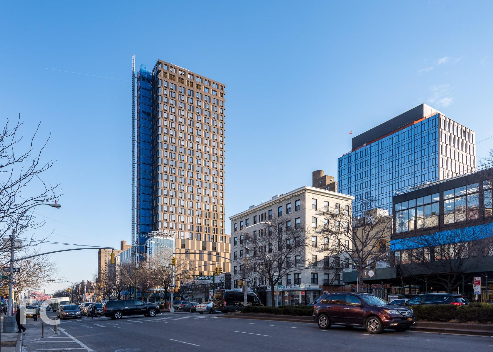 West façade from Delancey Street.