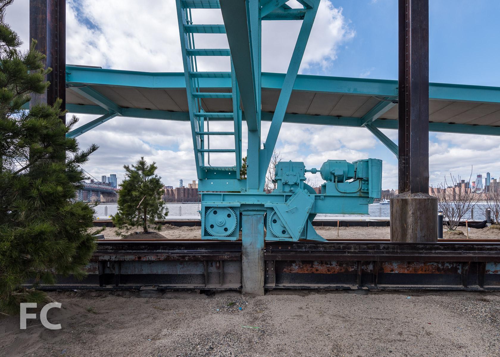 Crane tracks.