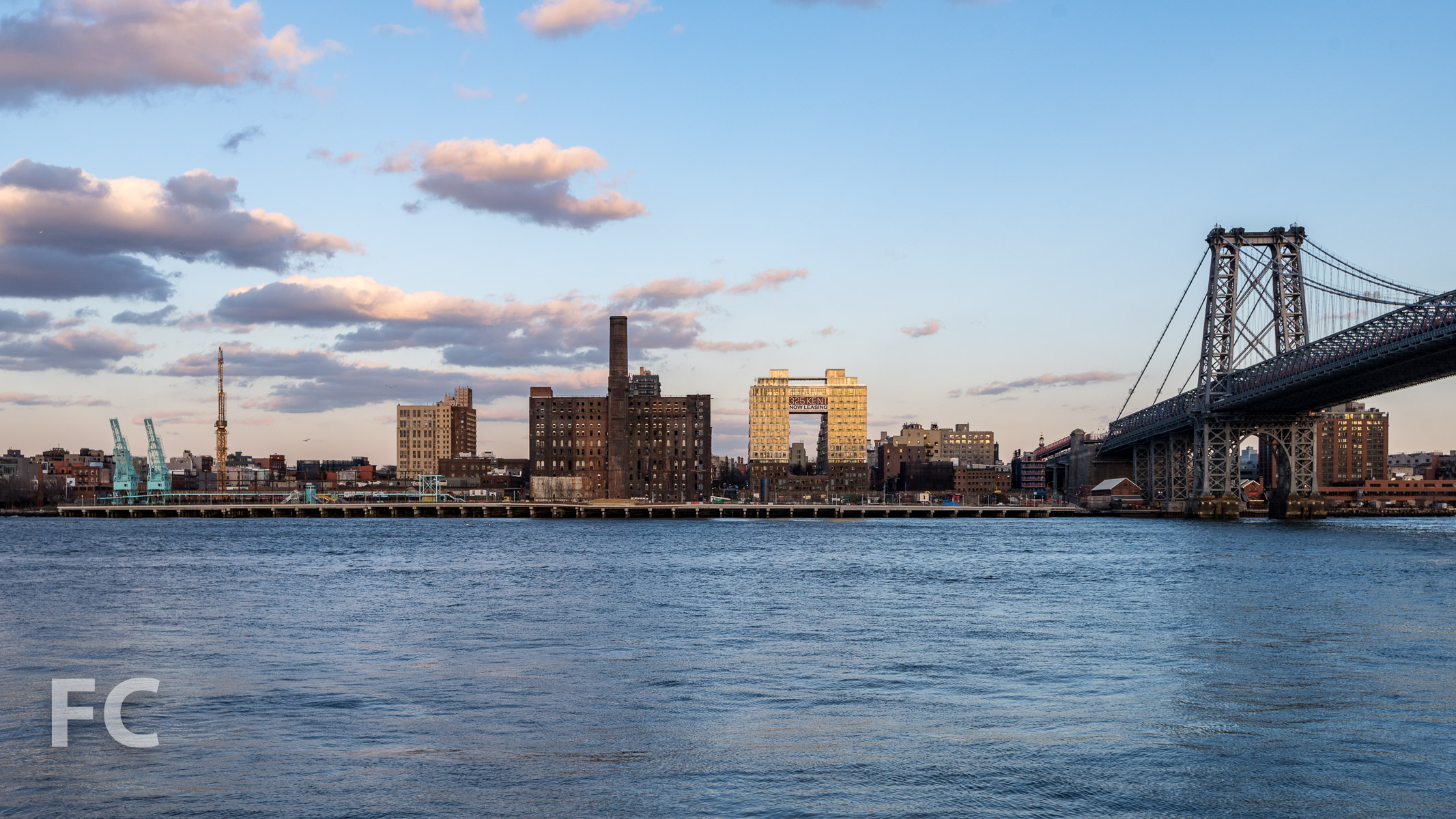 Domino Sugar site on the East River waterfront.