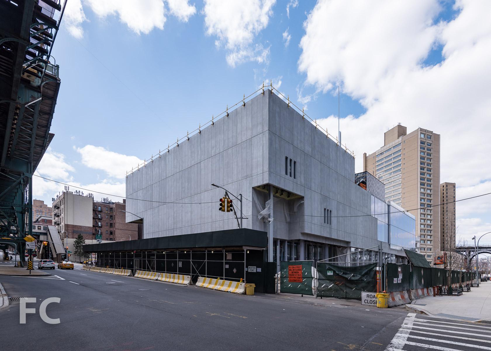 Northeast corner of the University Forum from Broadway.