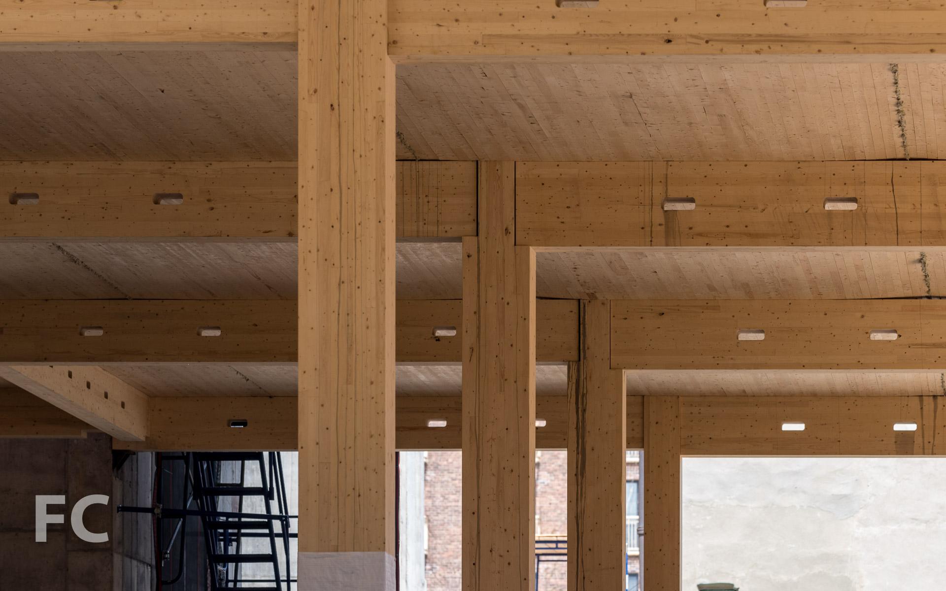 Ground floor beams.