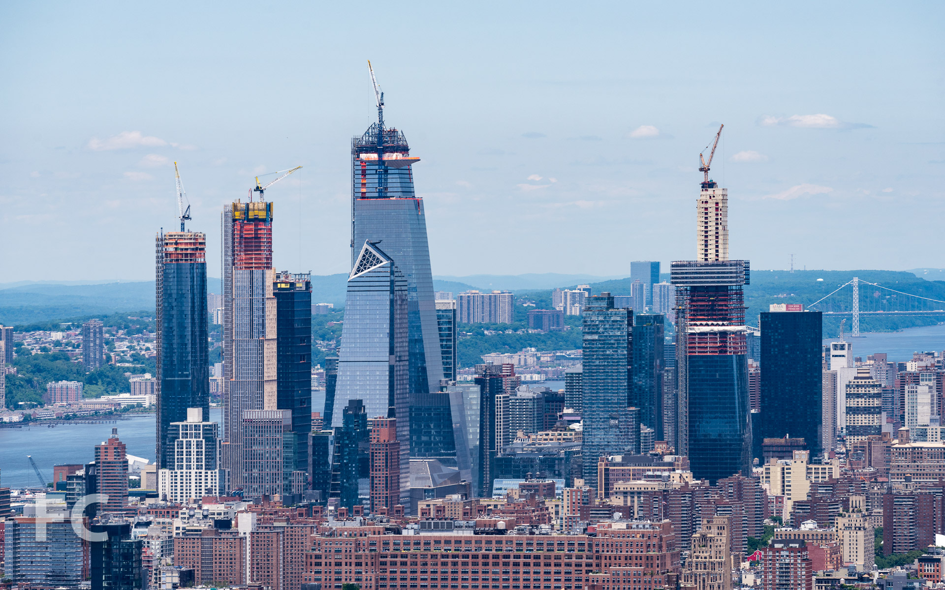 View of Hudson Yards.