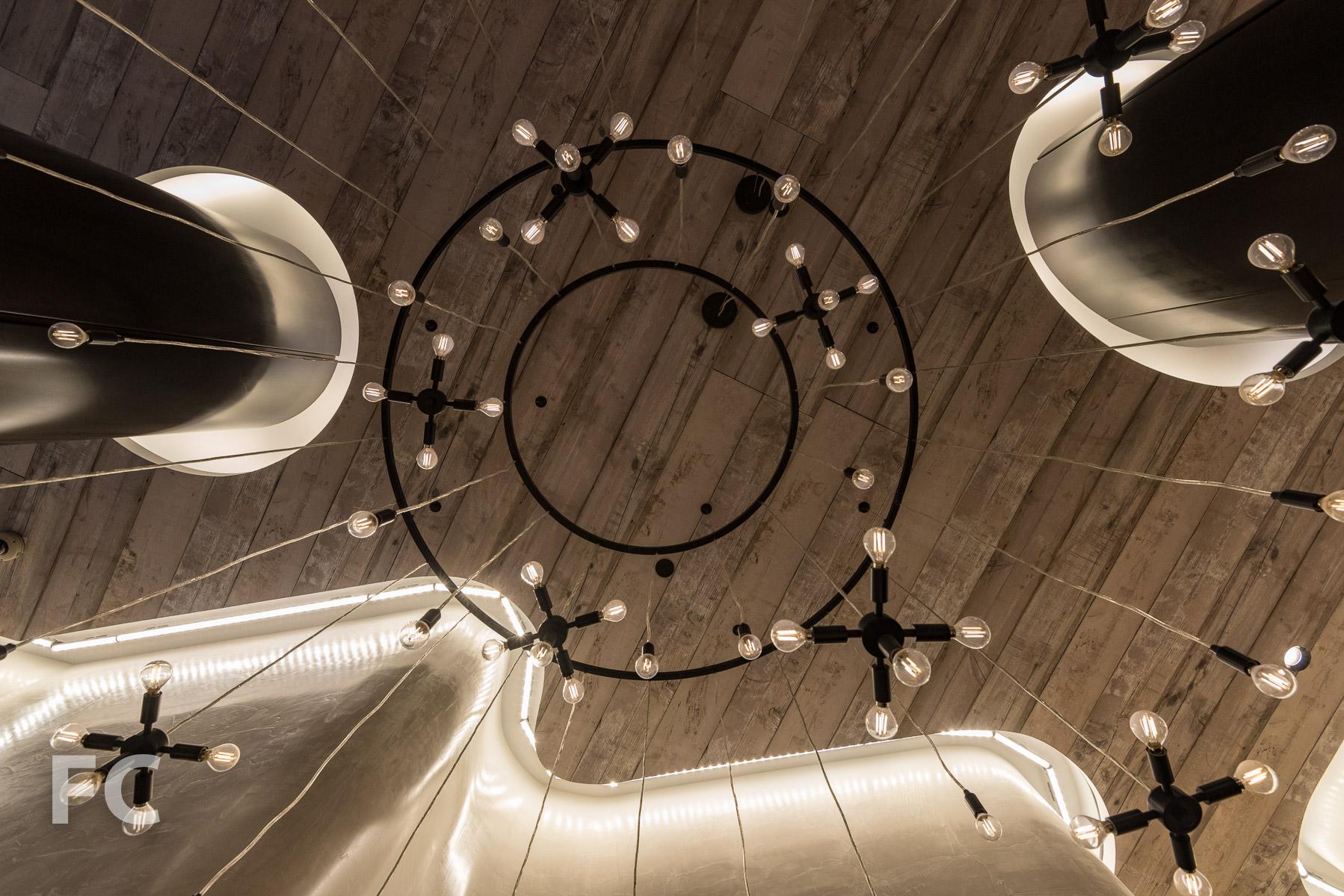 Residential lobby chandelier.