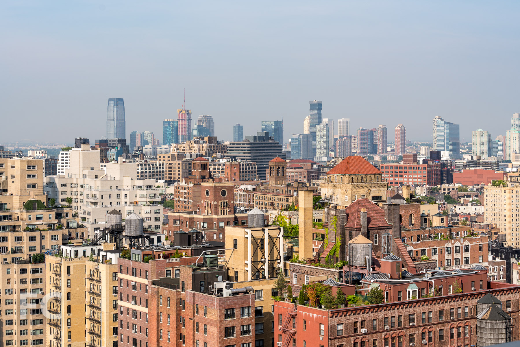 View southwest towards the West Village and Jersey City from the penthouse.