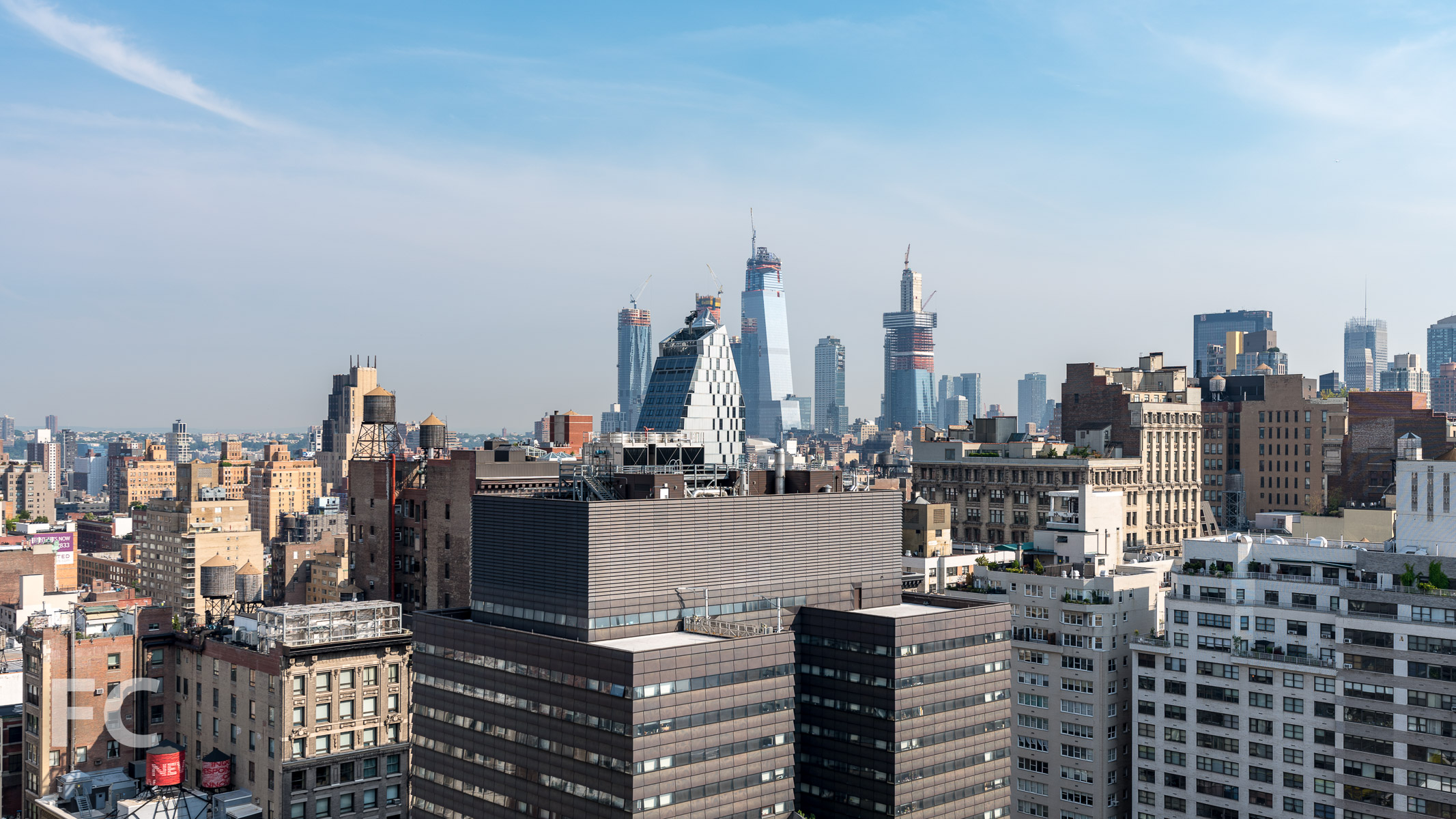View northwest towards Hudson Yards from the penthouse.