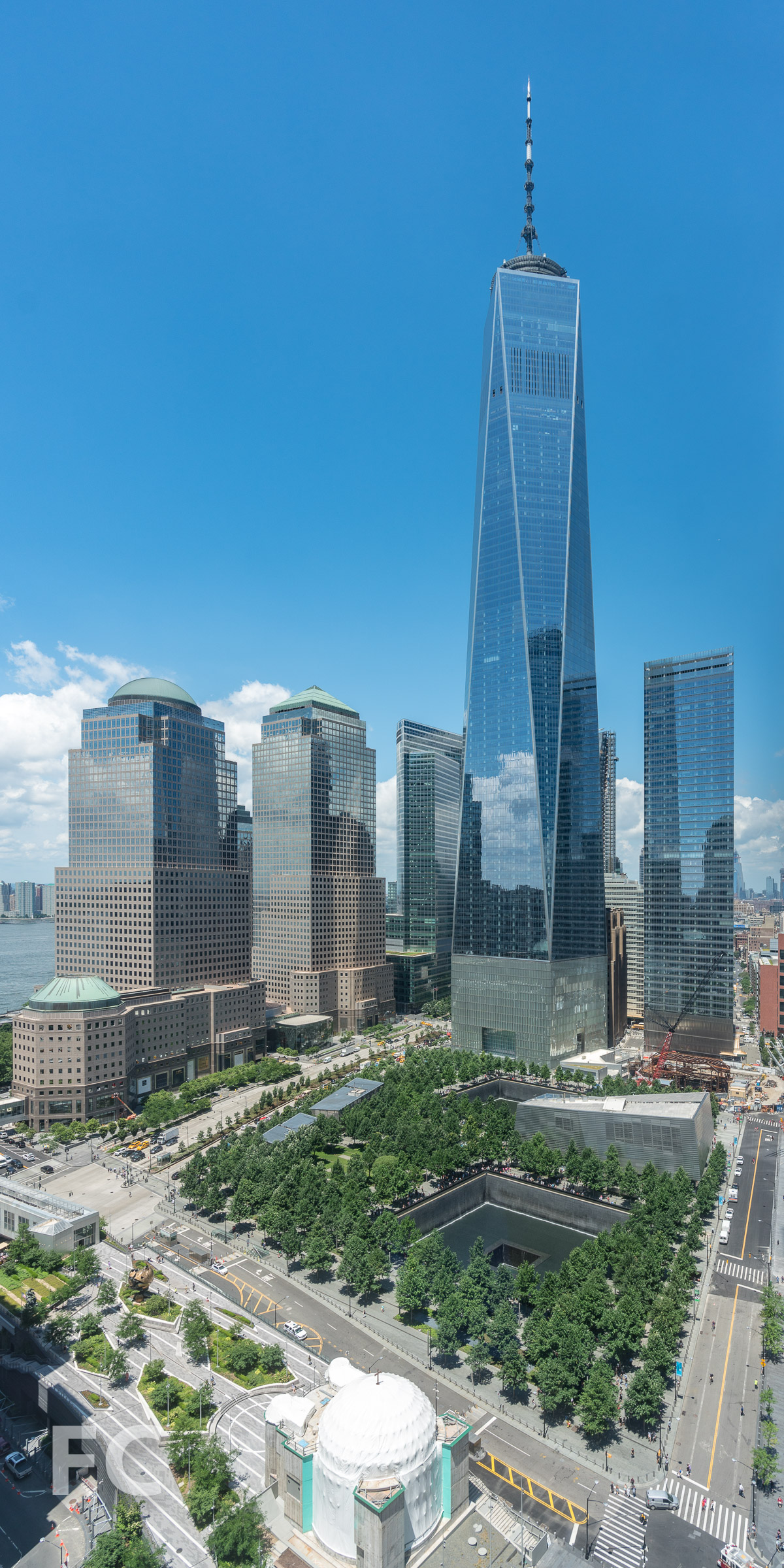 View of the World Trade Center site from the tower.