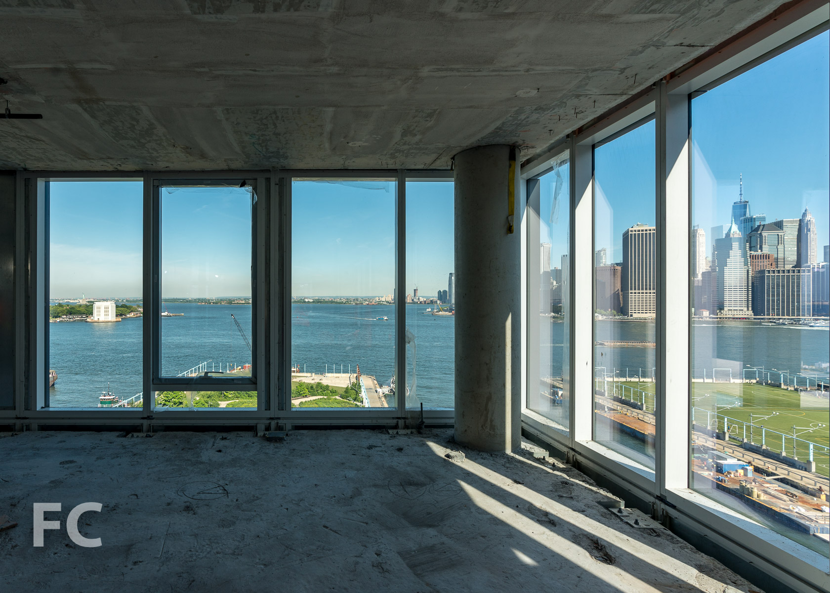 View west from a mid tower residence at 50 Bridge Park Drive.