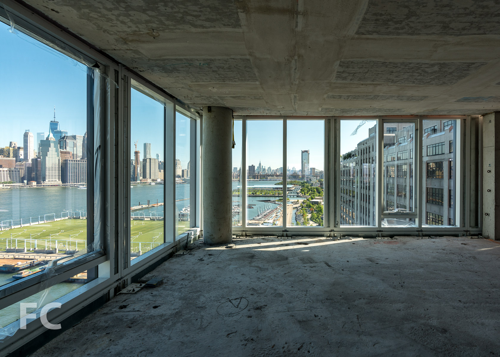 View north from a mid tower residence at 50 Bridge Park Drive.