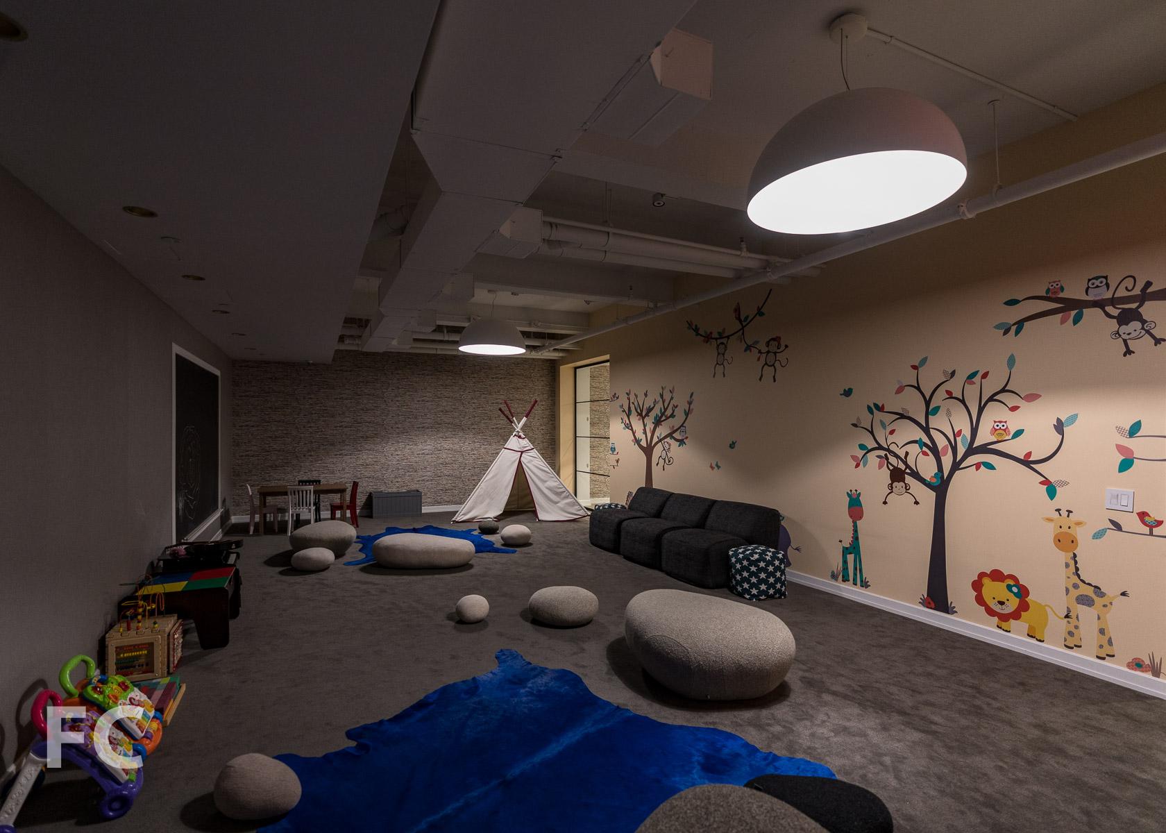 Children's playroom.