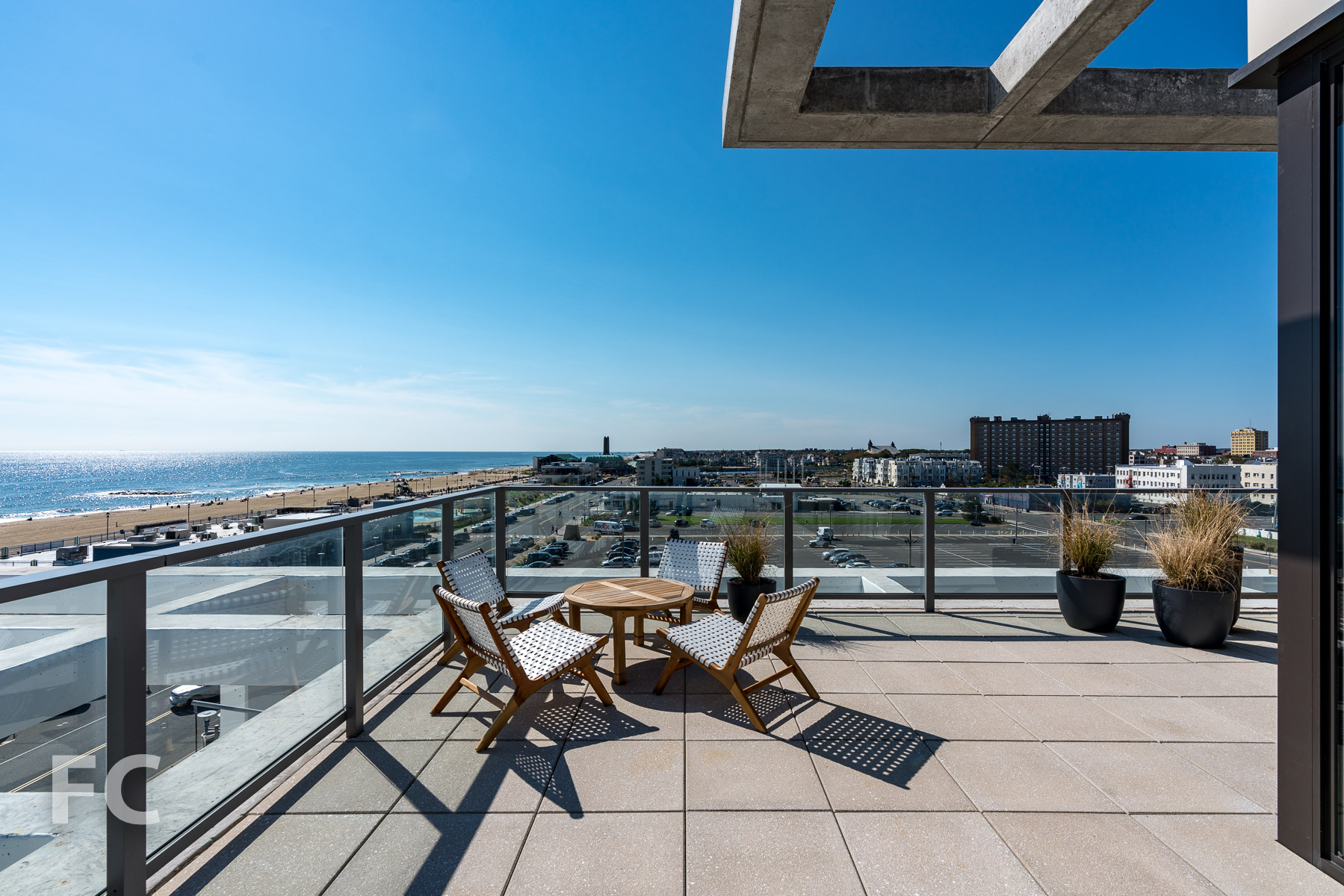Private terrace.