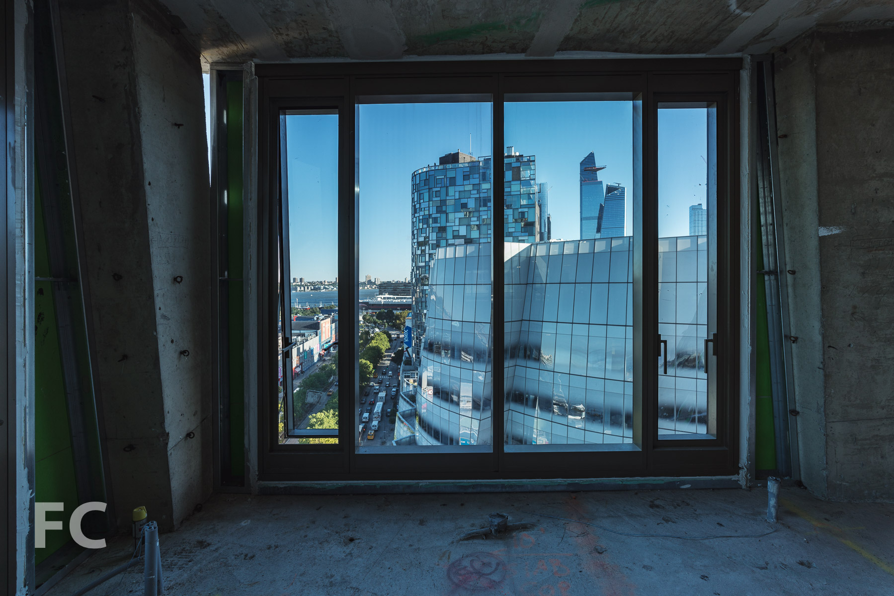 View of Chelsea's iconic architecture from a northwest corner unit.