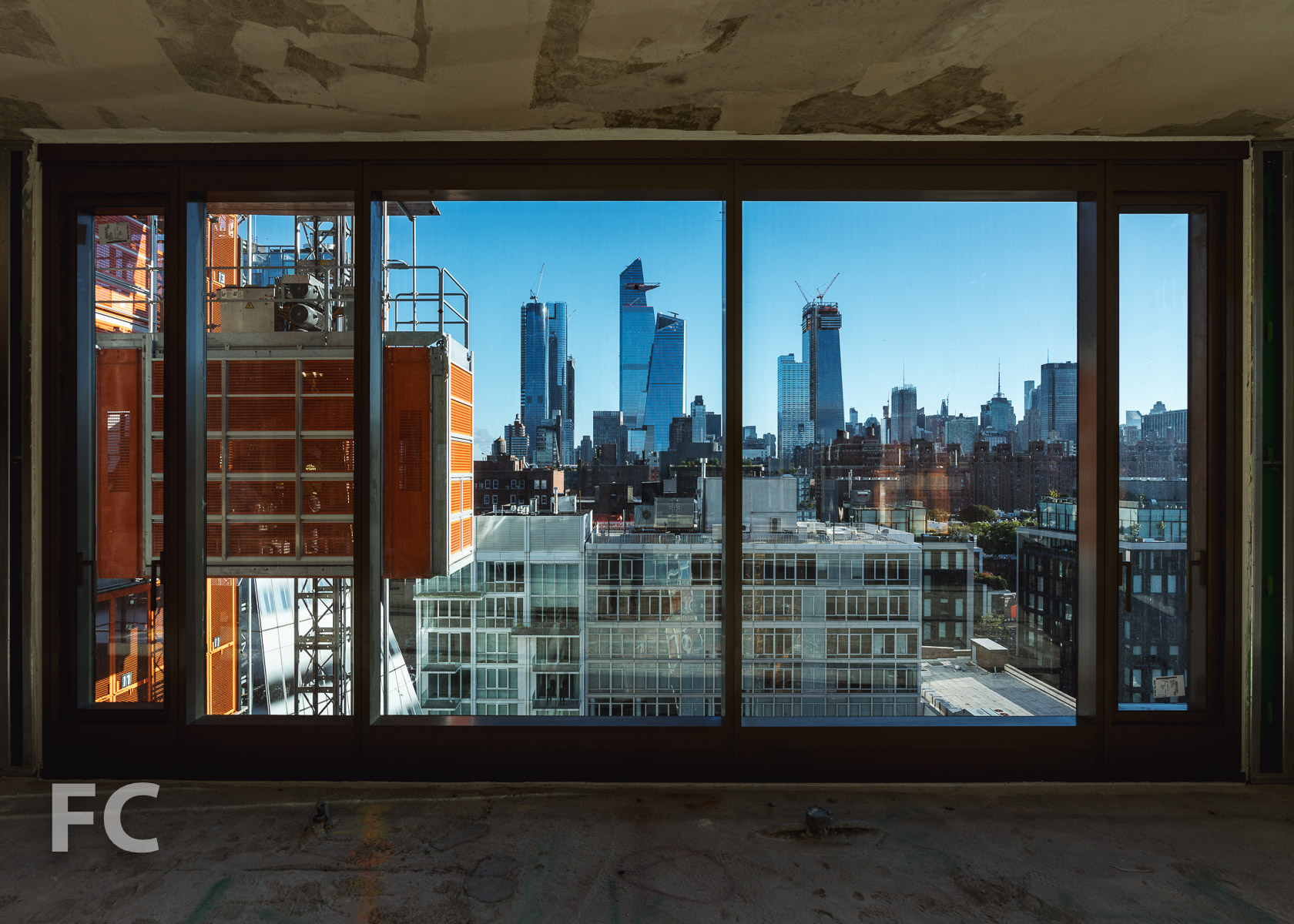 View of Hudson Yards from a north facing unit.
