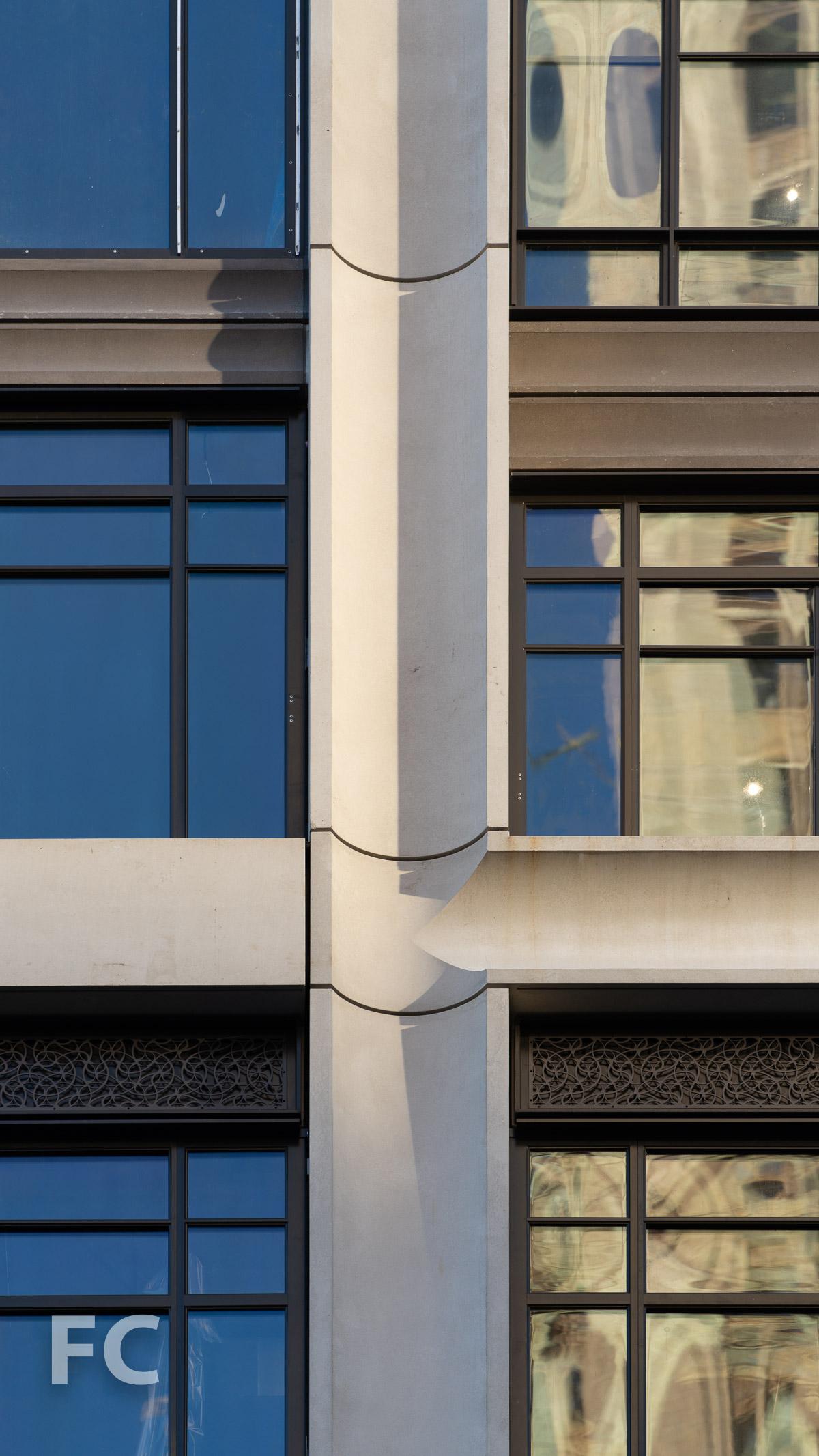 North facade detail.