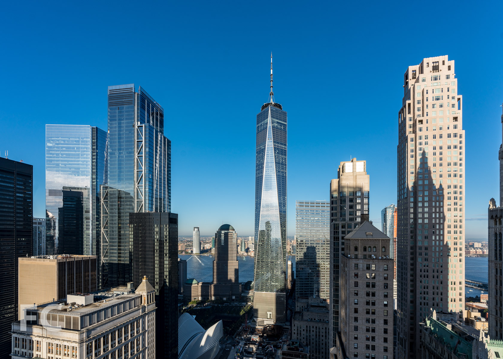 Looking west from the 41st floor towards the World Trade Center.