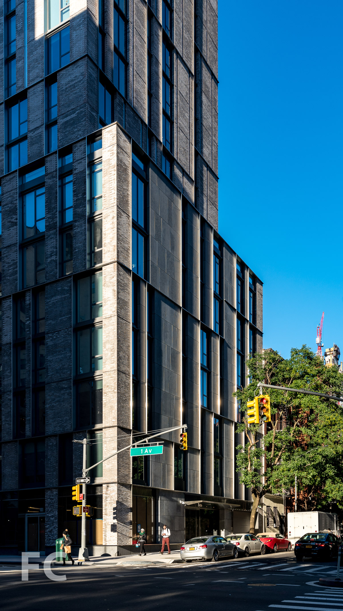 North facade at East 89th Street.
