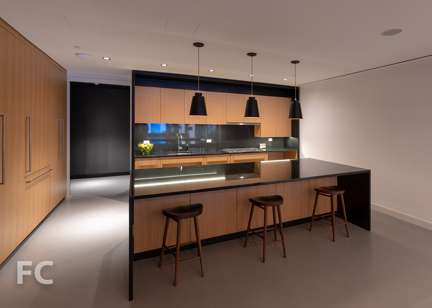 Kitchen at the entertainment lounge.