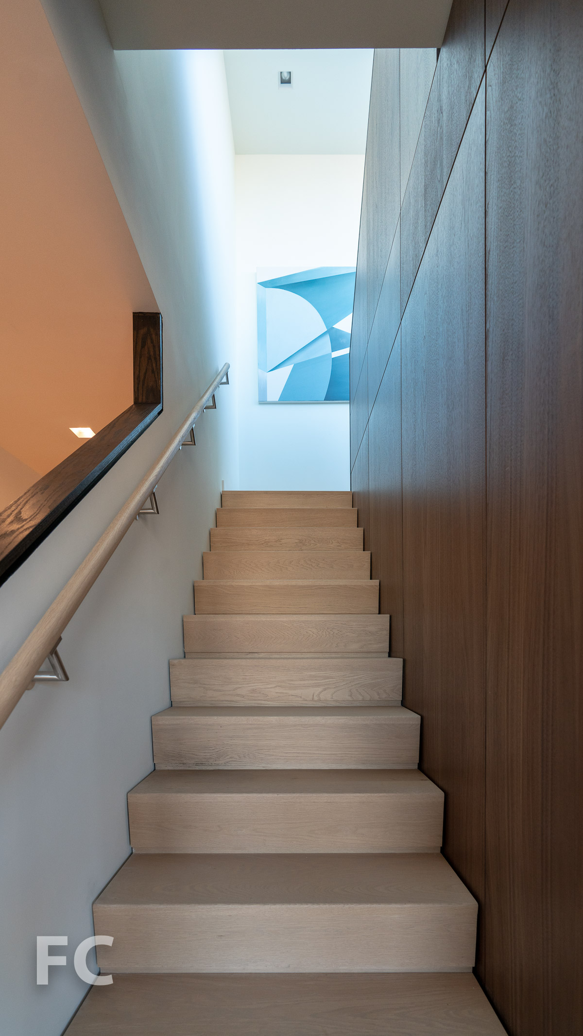 Stairs to private terrace.