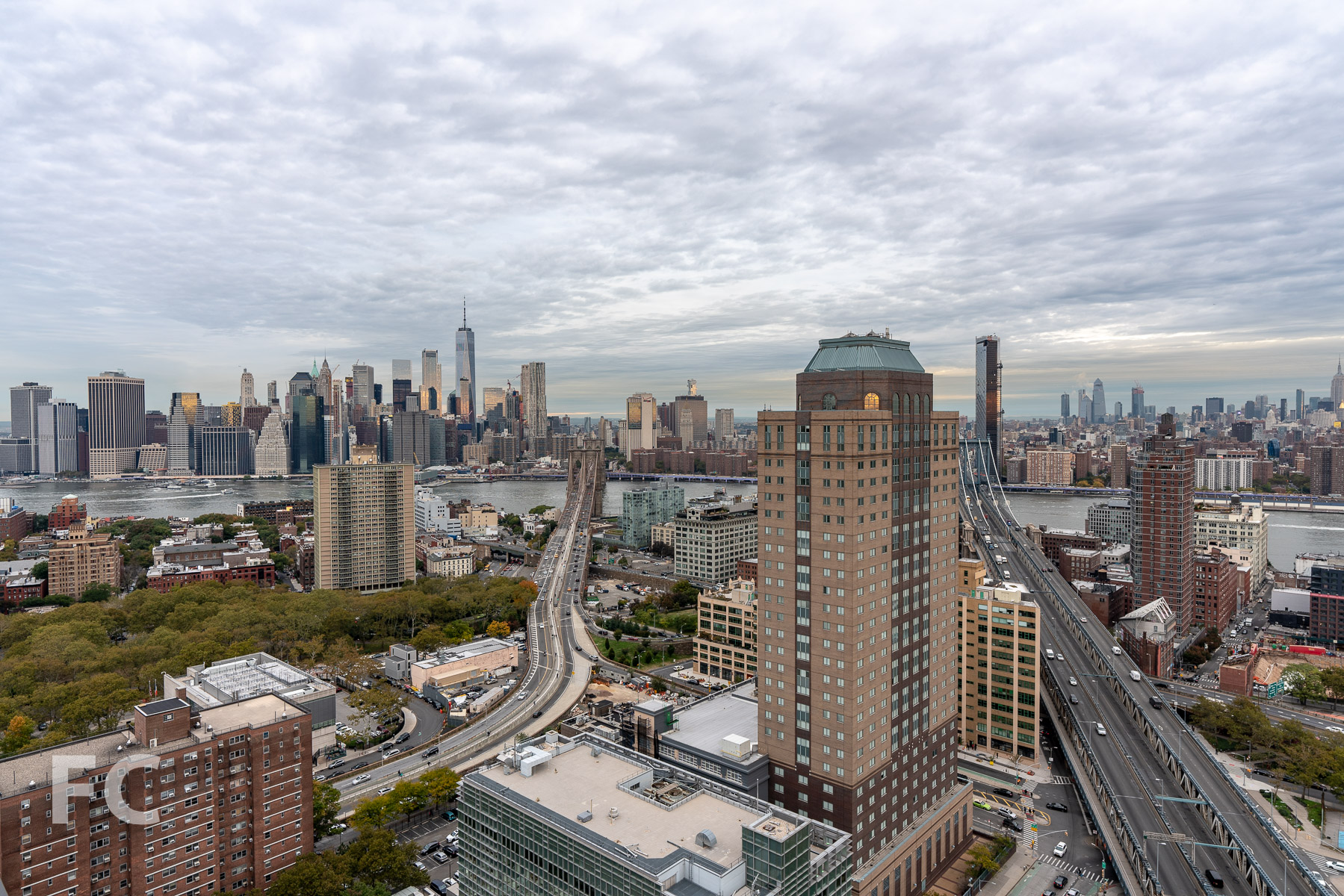 View towards Manhattan from the residential amenity terrace.