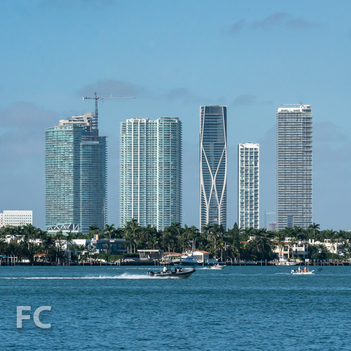 Biscayne Bay waterfront.