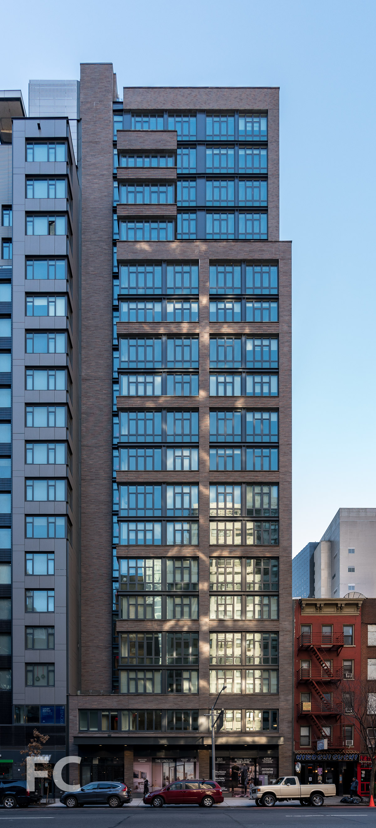 West facade.