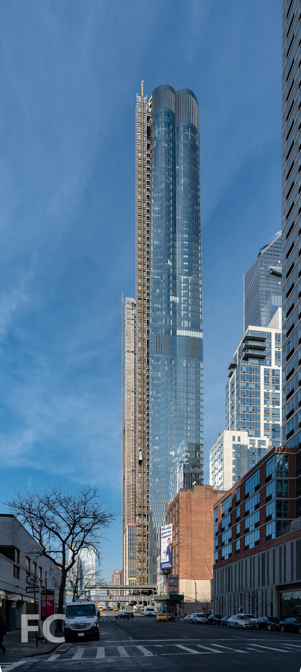 South facade of 15 Hudson Yards from 11th Avenue.