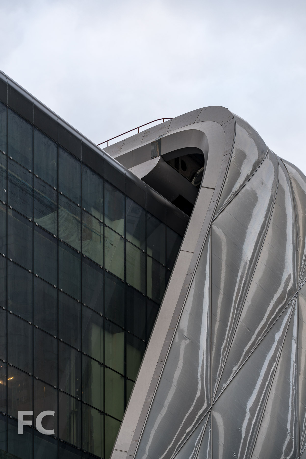 Detail of the ETFE facade of The Shed.