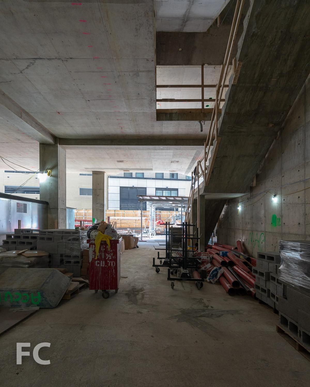 Future lobby under construction.