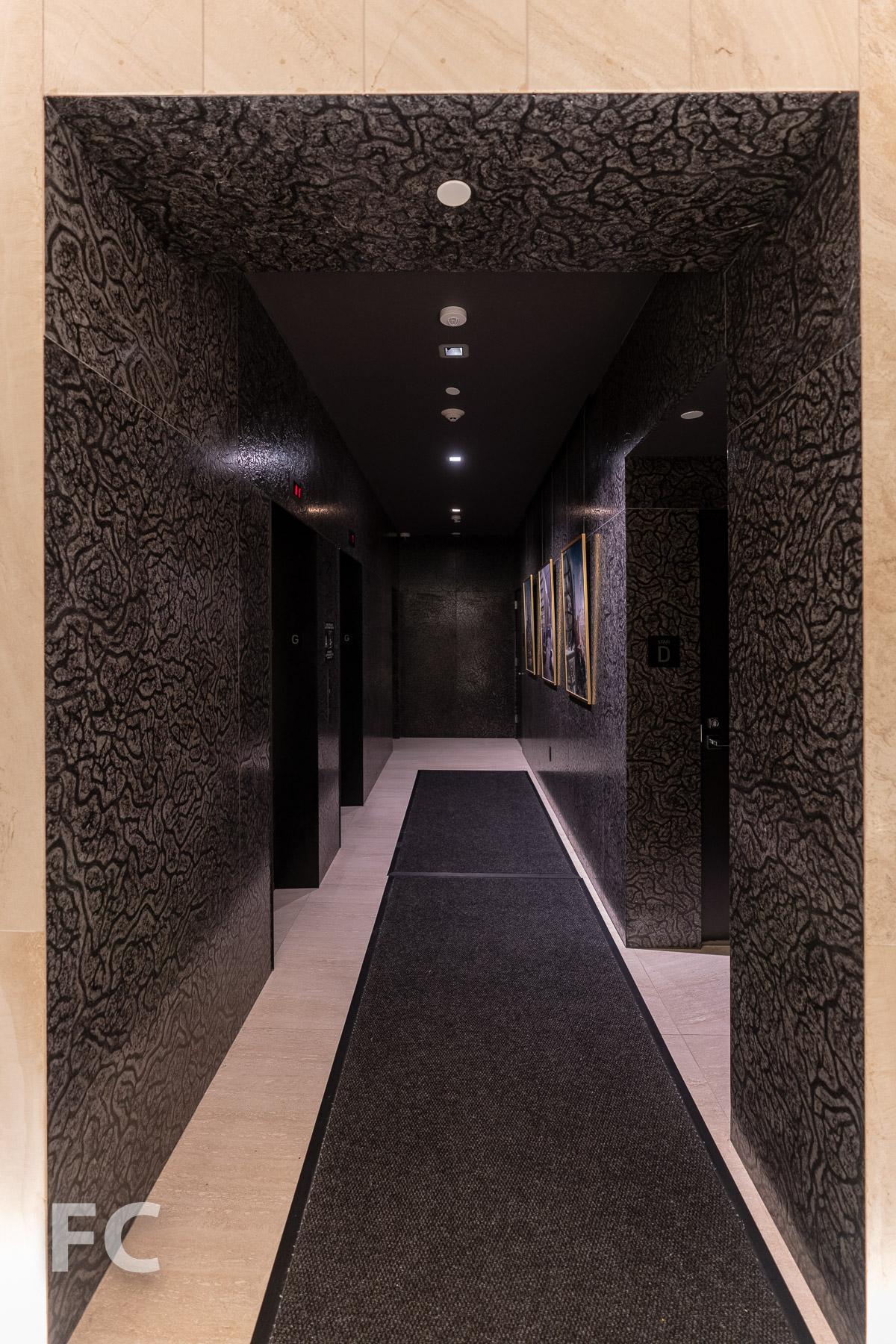 Elevator lobby.