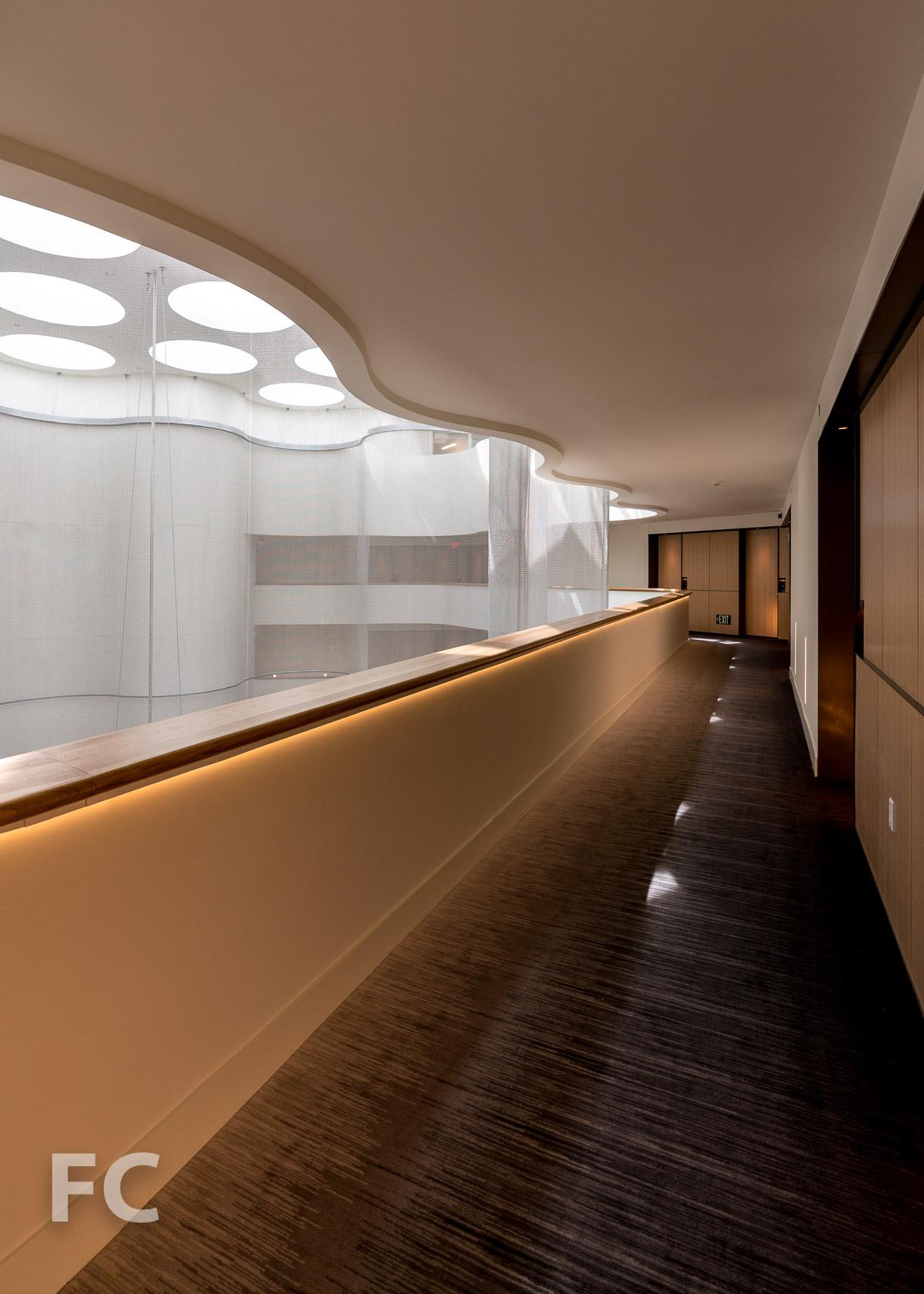 Hotel corridor at the 10th floor.