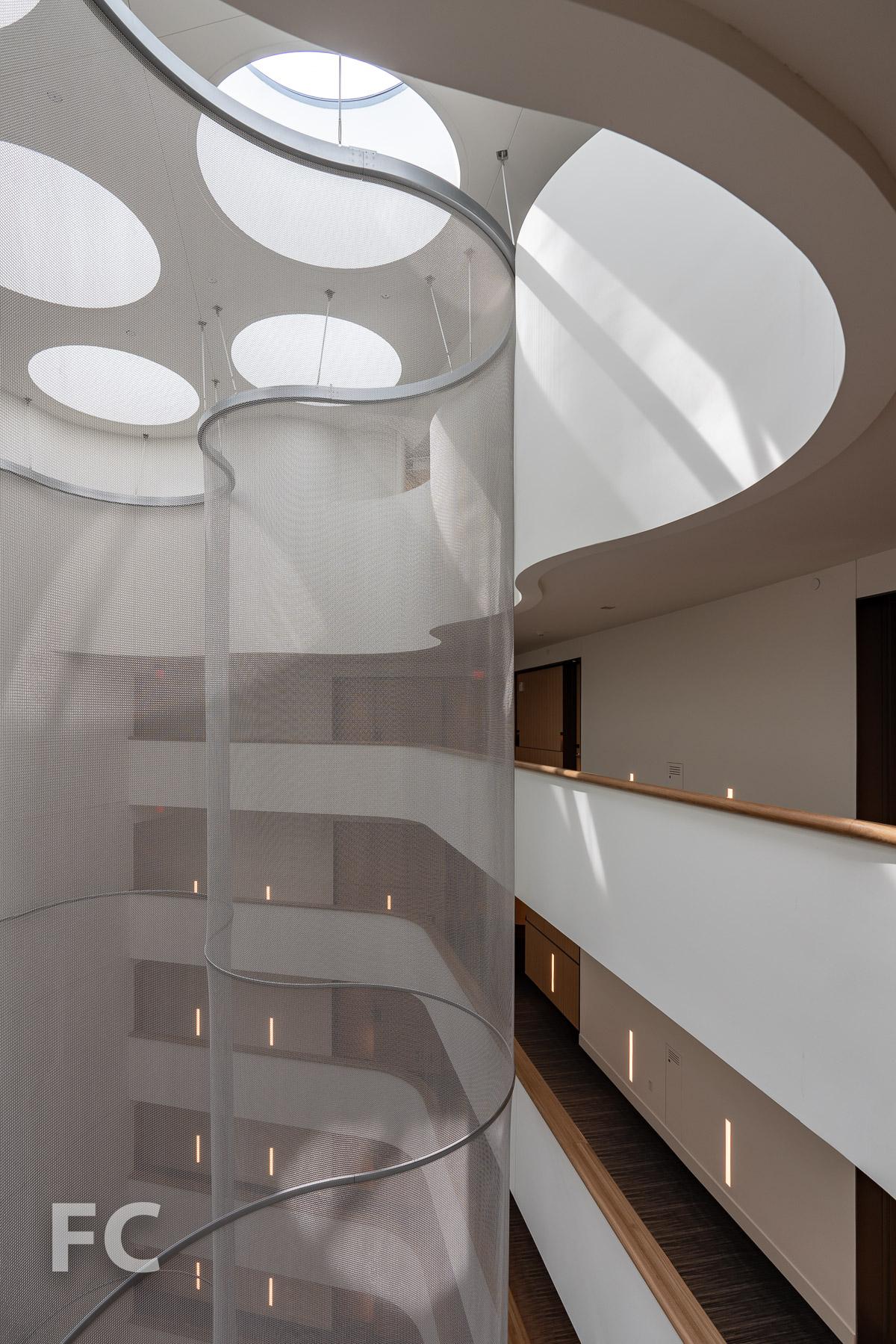 Atrium screen at the 10th floor.