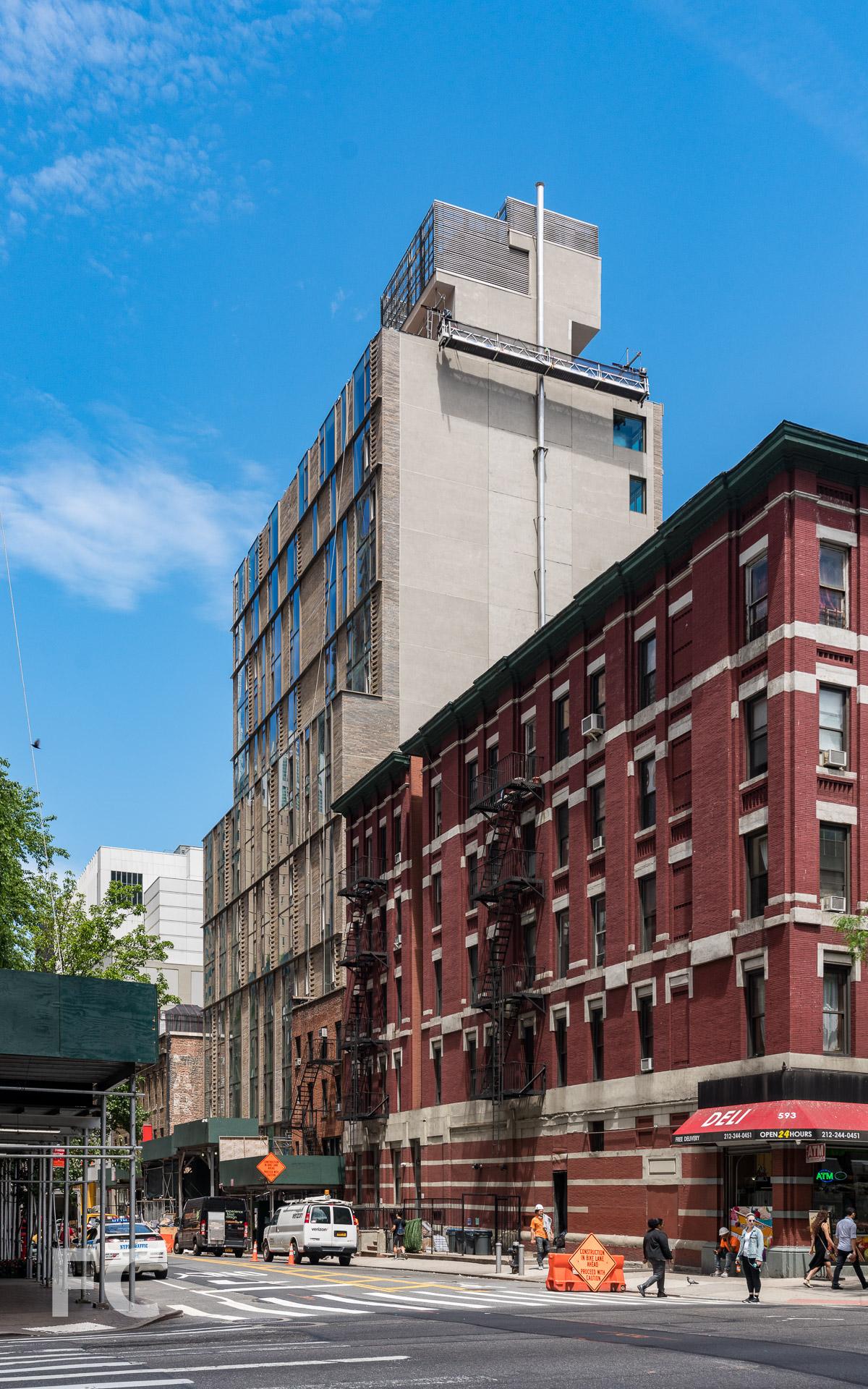 West 43rd Street facade.