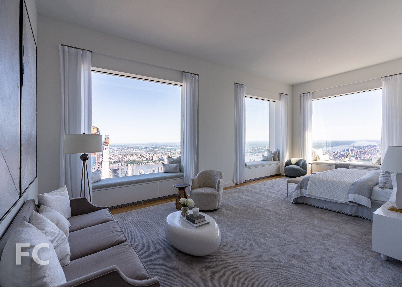 Master bedroom with views to the north and west.