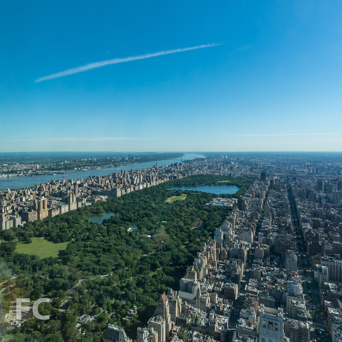 North view towards Central Park and the Upper East and West Side.