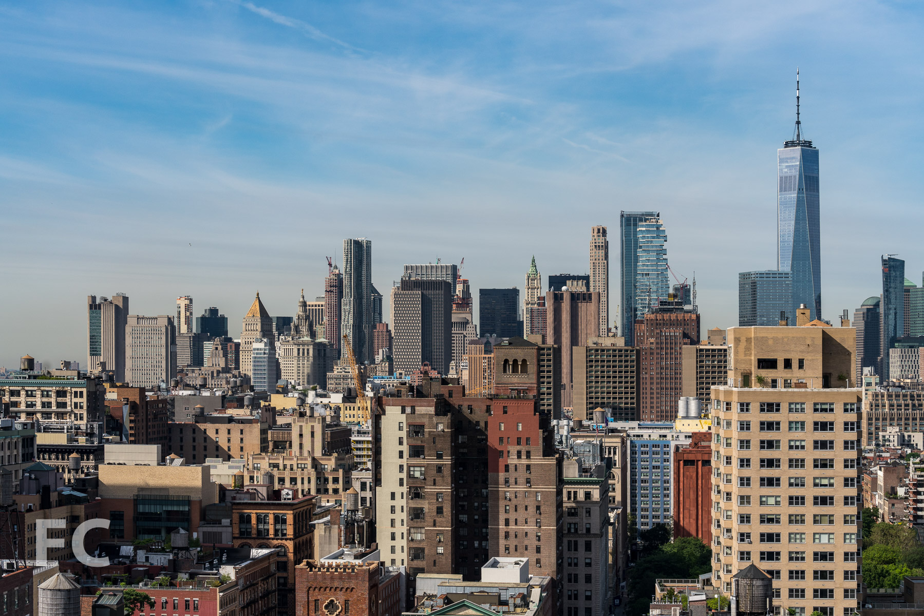 View south towards Lower Manhattan from the penthouse.