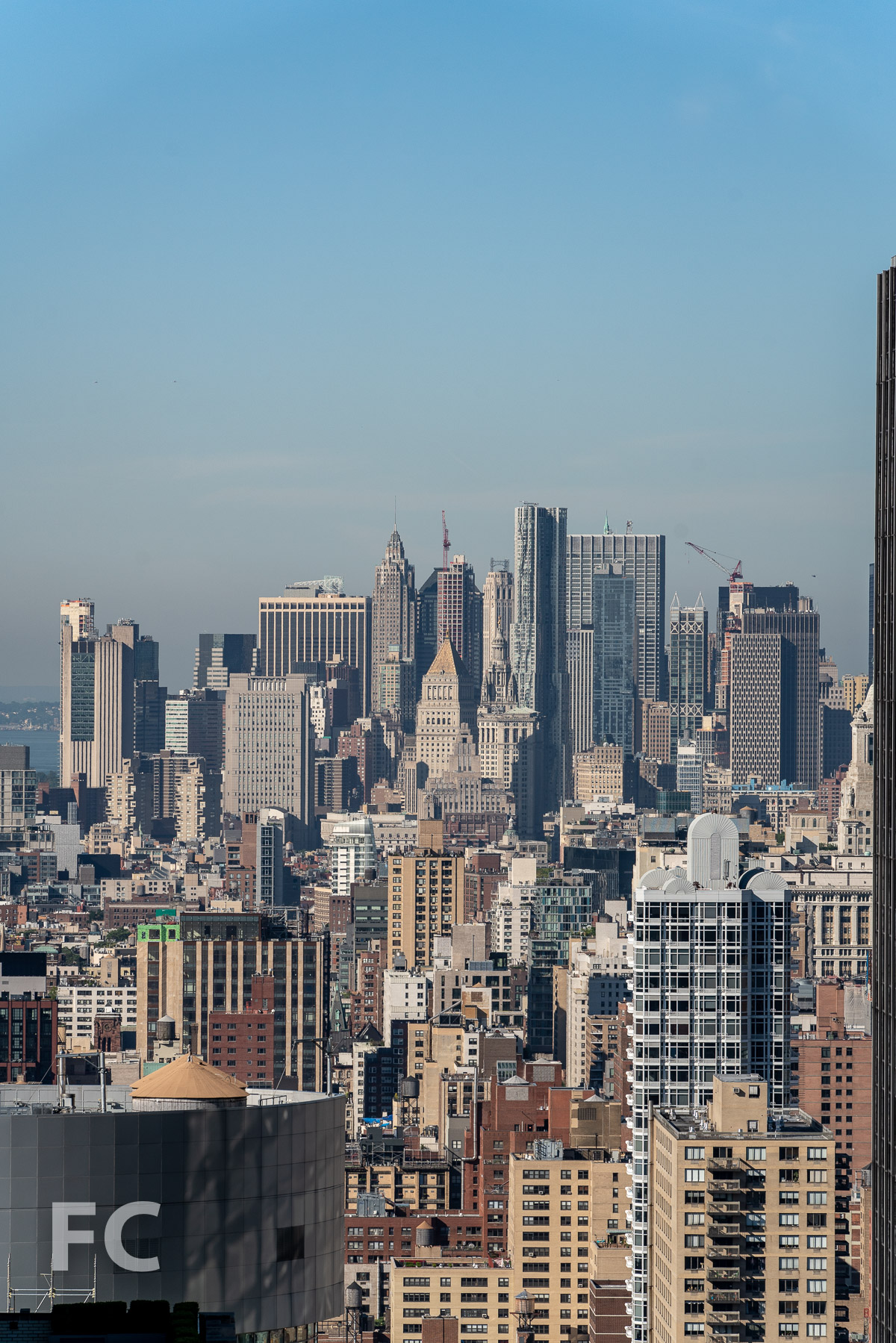View south towards Lower Manhattan.