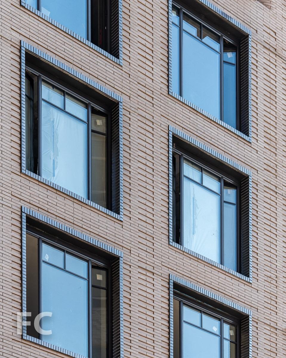Brick facade detail.